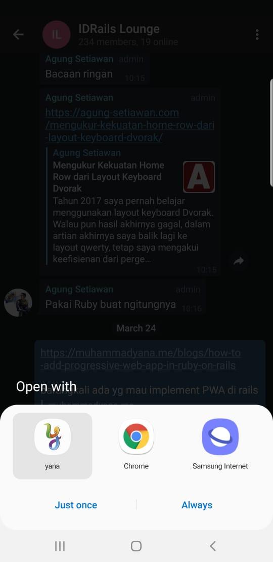 Muhammad Yana Mulyana | How To Add Progressive Web App in